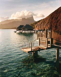 The Hilton Moorea Lagoon Resort and Spa, on French Polynesia's Moorea.