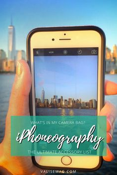 Here's the full list of iPhoneography accessories I keep in my camera bag.
