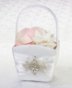 Crystal Elegance Flower Girl Basket