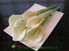 Calla Lilly Garnish - Taught in Nita's Vegetable and Fruit Carving 101