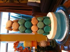 Macaron tower by Metzi's cakes and bakes