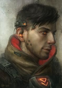 """Hacker from the future, or I guess what Stephenson termed a """"gargoyle""""  #cyberpunk #scifi"""