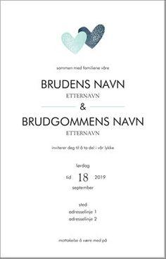 Bryllupsinvitasjoner Maler og designer Page 4 Place Cards, Place Card Holders, Wedding Ideas, Weddings, Design, Bodas, Hochzeit, Wedding, Design Comics
