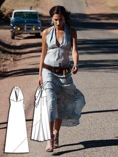 Halter Maxi Dress 06/2012 #113 http://www.burdastyle.com/pattern_store/patterns/halter-maxi-dress-062012