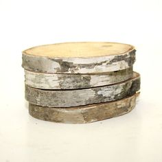 Birch Wood Coasters Set of 4 Natural by KotiBeth on Etsy, $12.00