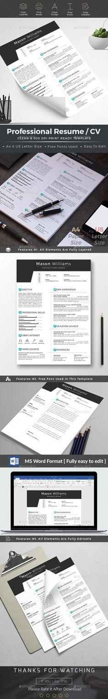 Resume CV Resume cv, Creative resume templates and Print templates - buy a resume