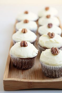 Carrot cupcakes with cream cheese frosting are a classic pairing that can't be beat.