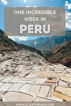 An Adventurous Week in Peru | Prepare to plan the best trip to Peru! See places like Machu Picchu and Rainbow Mountain. Get amazed by all of the natural beauty that Peru has to offer.