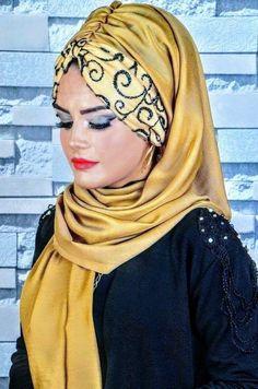 Hijab Fashion, Fashion Beauty, Turbans, Mix Match Outfits, Scarf Knots, Turban Hijab, Modern Hijab, Moda Emo, Turban Style