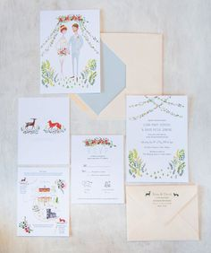 I really like the fox and the deer idea, and it could play into our woodland/camp wedding idea.