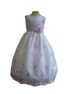 Amazon.com: Classykidzshop Organza Embroidered Flower Special Occasion Dress: Clothing