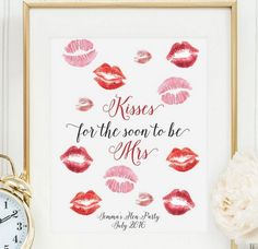 Hen Party Kisses Print from Team Hen
