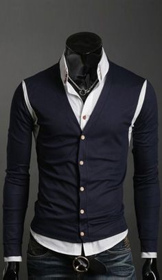Louis Sweater Blur Hipster Cardigan