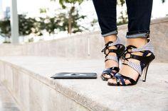 Lace up sandals via Natalya Kanj