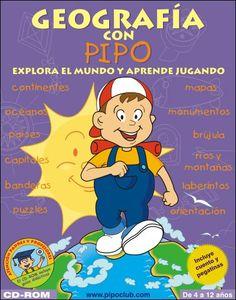 Portada #software #educación #Spanish #English #geografía #juegos #infantil #niños #kids