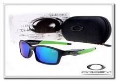 Oakley crosslink sunglasses polished black / island green / blue iridium