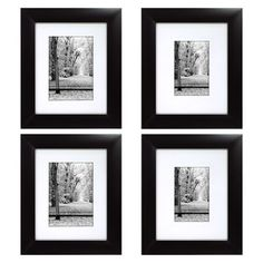 Portrait Frame 4 Pack - Black...idea for how im going to setup the frmes on the wall