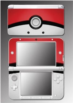 Pokemon Pokeball Pikachu Movie Cartoon Video Game Vinyl Decal Cover Skin Protector for Nintendo 3DS XL.