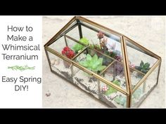 Build a stained glass terrarium using the copper foil technique. - YouTube