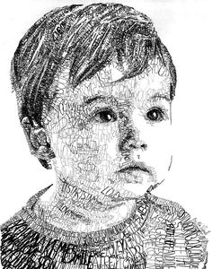 Portrait Drawing - Costin Boy by Michael Volpicelli art drawings Costin Boy by Michael Volpicelli Word Drawings, Art Drawings Sketches, Sketch Art, Drawing With Words, Art With Words, Boy Drawing, Girl Sketch, Drawing Poses, Pencil Drawings