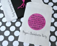Bachelorette Favor Bags: Personalized Pitch Perfect Movie Quote by SosiaToGo