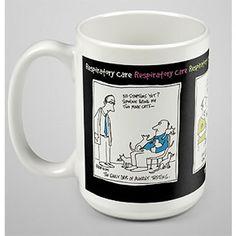 Respiratory cartoon ceramic mug from http://shop.advanceweb.com.