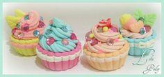 Japanese fuwa fuwa clay cupcakes