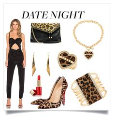 """""""Untitled #50"""" by xxchicfashionxx ❤ liked on Polyvore featuring Misha Collection, Christian Louboutin, GUESS, Estée Lauder and DateNight"""