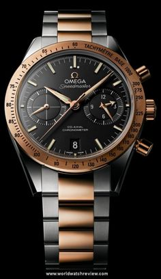 Omega Speedmaster 57 Two-Tone Automatic wrist watch in steel and rose gold