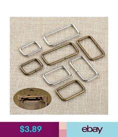 c4e83a51d7ec Leathercraft Accessories 20Pcs 4 Size Metal Square Ring Buckles Garment  Belt Diy Sewing Bag Purse Buttons  ebay  Home   Garden