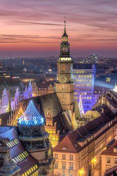 Wrocław by night (PL) by Darek