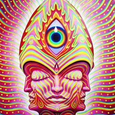 Magenta Entheon Angel | Alex Grey