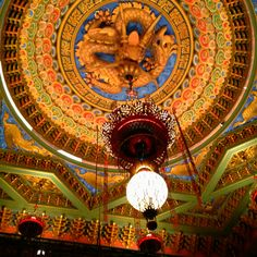 Illicit photo of the ceiling of the 5th Avenue Theater in Seattle, WA.