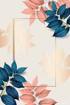 Free Wallpaper Backgrounds, Framed Wallpaper, Flower Background Wallpaper, Leaf Background, Flower Backgrounds, Vector Background, Background Patterns, Cute Wallpapers, Iphone Wallpaper