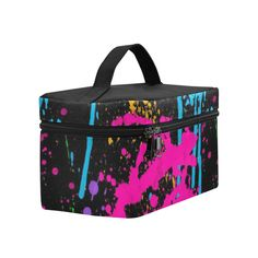Wet Paint Color Splash Cosmetic Bag/Large (Model 1658)