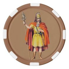 Ancient Briton COSTUME  BC 54  Poker Chips Set - #customizable create your own personalize diy
