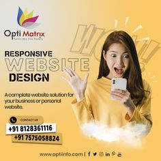 Does your website optimize for mobile devices? With more than half of searches now made on smartphones and tablets, your site must be responsive across all devices. Let us help you build a better website, 🖥️ www.optiinfo.com 📩 info@optiinfo.com 📲 +91 8128361116 / 7575058824 🔗 wa.me/918128361116 #bestwebdevelopmentcompany #topwebsitedesigndervices #bestwebdevelopmentcompanyinindia #seocompany #websitedevelopment #topdigitalmarketingcompanyinindia #topwebsitedevelopment #bestwebsitedesig Best Web Development Company, Seo Company, Website Design Services, Website Design Company, Logo Design, Web Design Company