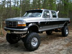 Lifted 1989 Ford F-250 truck