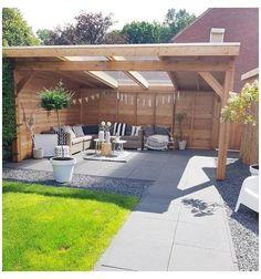 Patio Fence, Backyard Gazebo, Backyard Seating, Backyard Patio Designs, Outdoor Seating Areas, Pergola Patio, Diy Patio, Garden Gazebo, Backyard Landscaping
