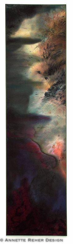 RAKU  silk painting impressions by annettereher on Etsy, $1700.00