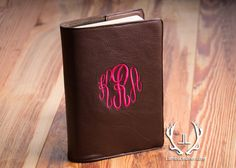 Monogramed Bible Cover Leather Bible Cover Book by LambsLeather