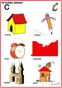 Romanian Language, Fun Crafts For Kids, Oracle Cards, Kids Education, Alphabet, Homeschool, Logos, Baby, Languages