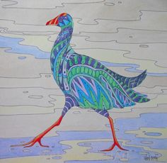 Patterned Pukeko - Copy