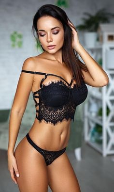 Beautiful models in sexy or sensual lingerie. Belle Lingerie, Black Lingerie, Sexy Bikini, Bikini Babes, Sexy Outfits, Hot Girls, Femmes Les Plus Sexy, Mädchen In Bikinis, Beautiful Lingerie