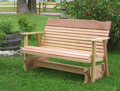 Cedar Outdoor Lawn Furniture, Amish Wood Craftsmanship