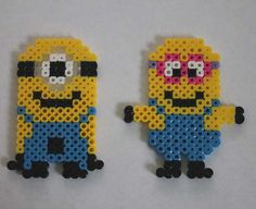 Despicable Me Minions Perler Beads by tiffanysobears
