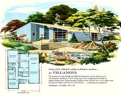 The Villanova - Main Line Homes: More Living For The 1960s by MidCentArc, via Flickr