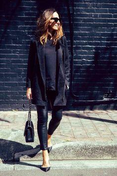 leather leggins // Valentino rock stud // Channel // Tash Sefton // theyallhateus