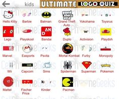 Ultimate Logo Quiz Kids Answers