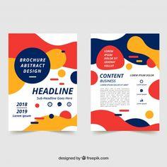 Abstract business brochure in size Free Vector Creative Poster Design, Graphic Design Layouts, Graphic Design Posters, Brochure Design, Graphic Design Inspiration, Flyer Design, Branding Design, Book Design, Web Design